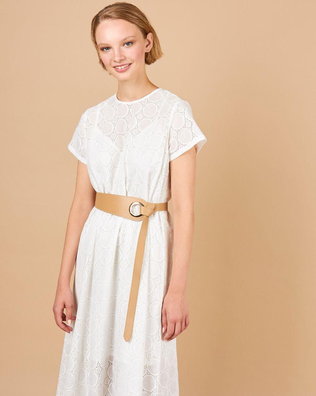 Платье-футболка из шитья Большие круги M