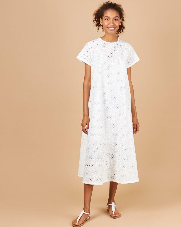 Платье-футболка из шитья Цветы M