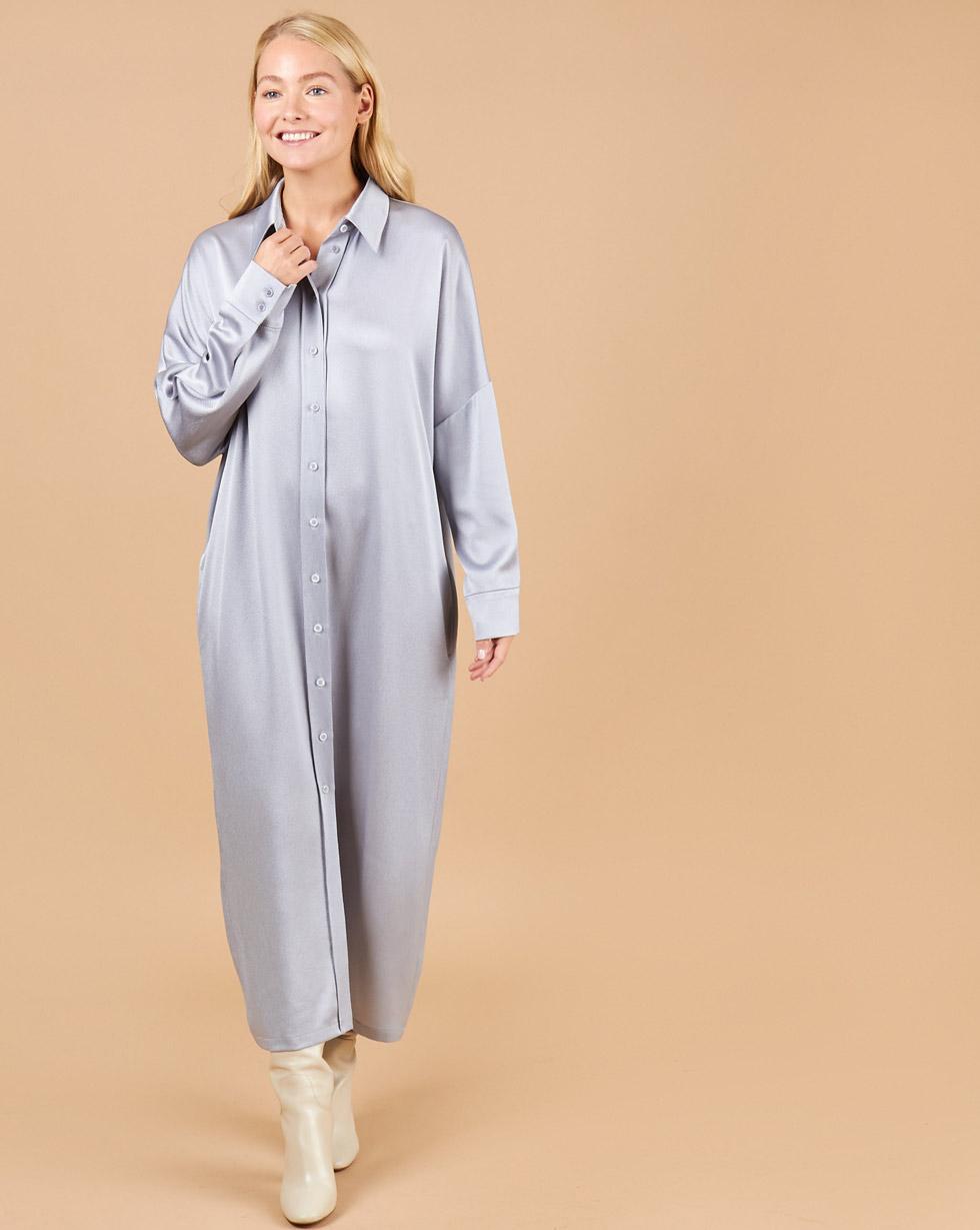 12Storeez Платье-рубашка из легкой ткани (голубой) платье рубашка fox yulia sway платье рубашка fox