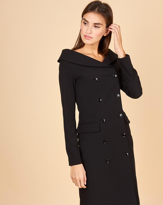 12Storeez Платье-пиджак с открытыми плечами (черный)