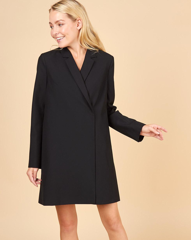 12Storeez Платье-пиджак мини (черный)