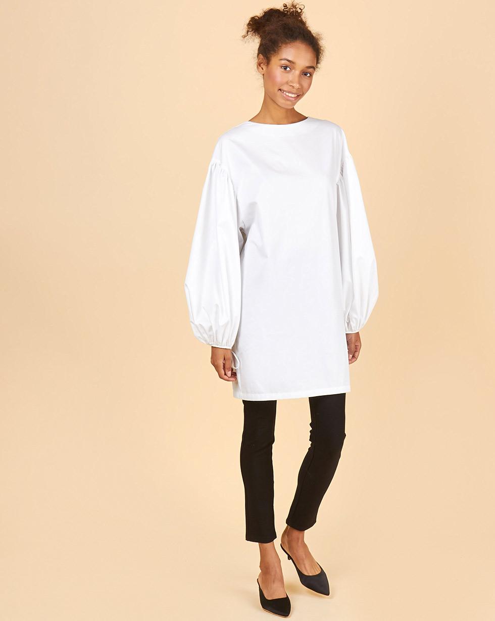 12Storeez Платье с треугольным вырезом на завязках (белый) рубашка с треугольным вырезом
