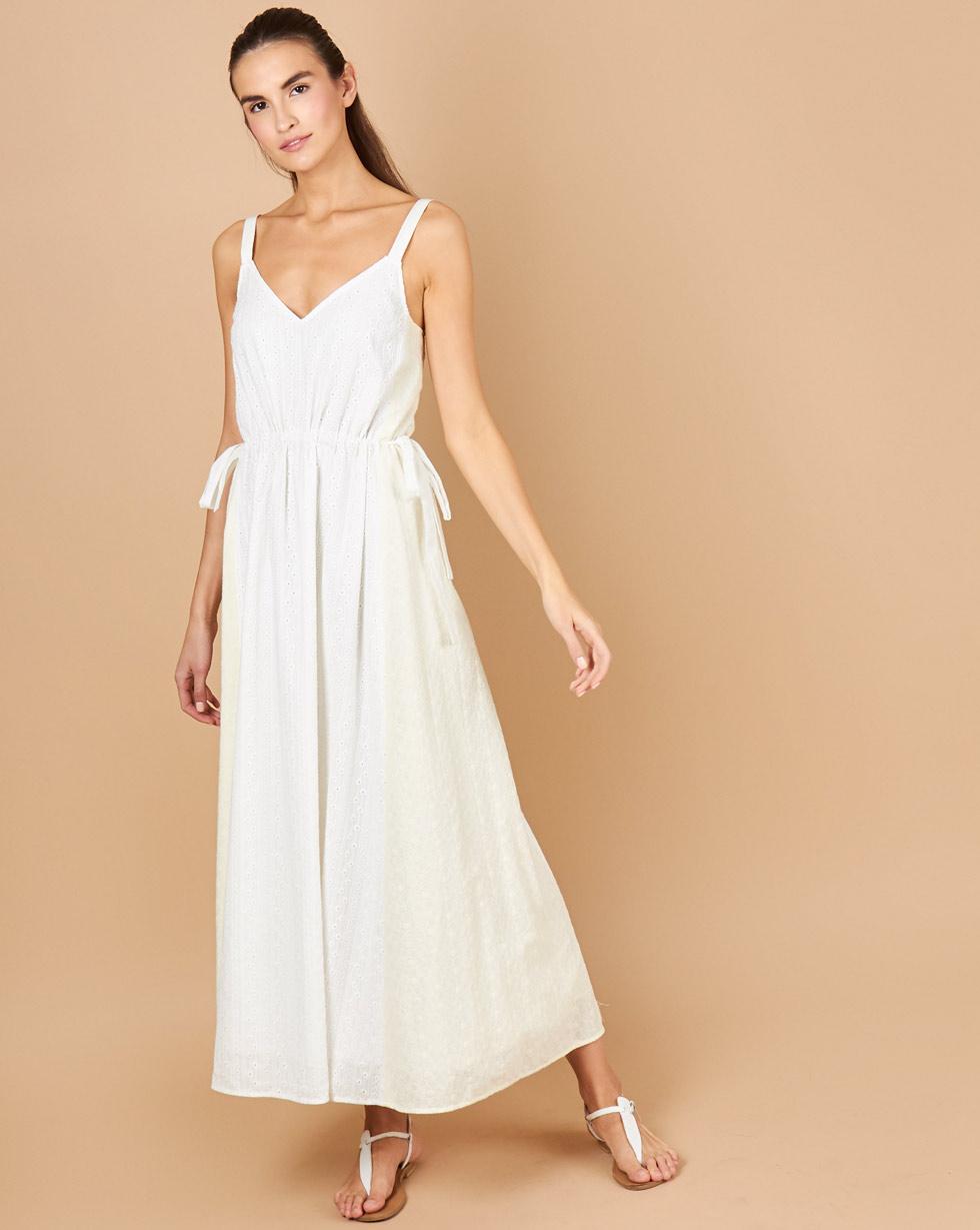 12Storeez Платье макси из шитья (молочный) balloon and butterfly платье из хлопкового микса