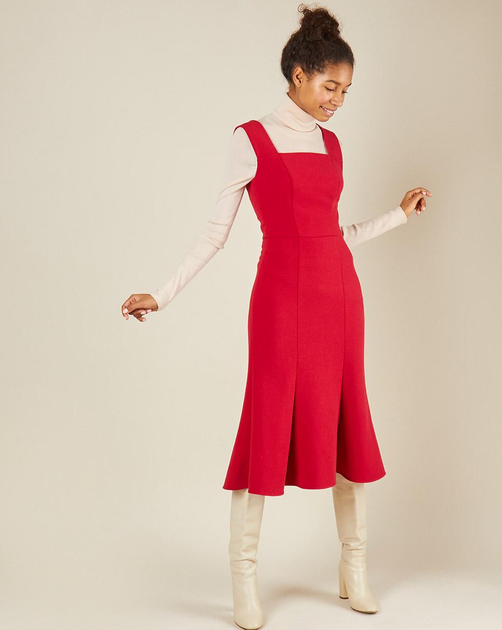 12Storeez Платье без рукавов из трикотажа (красный) printio платье без рукавов