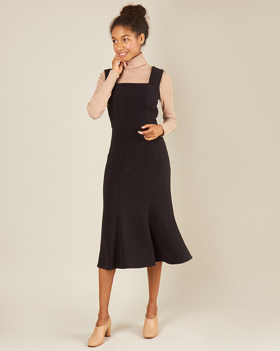12Storeez Платье без рукавов из трикотажа (черный) printio платье без рукавов