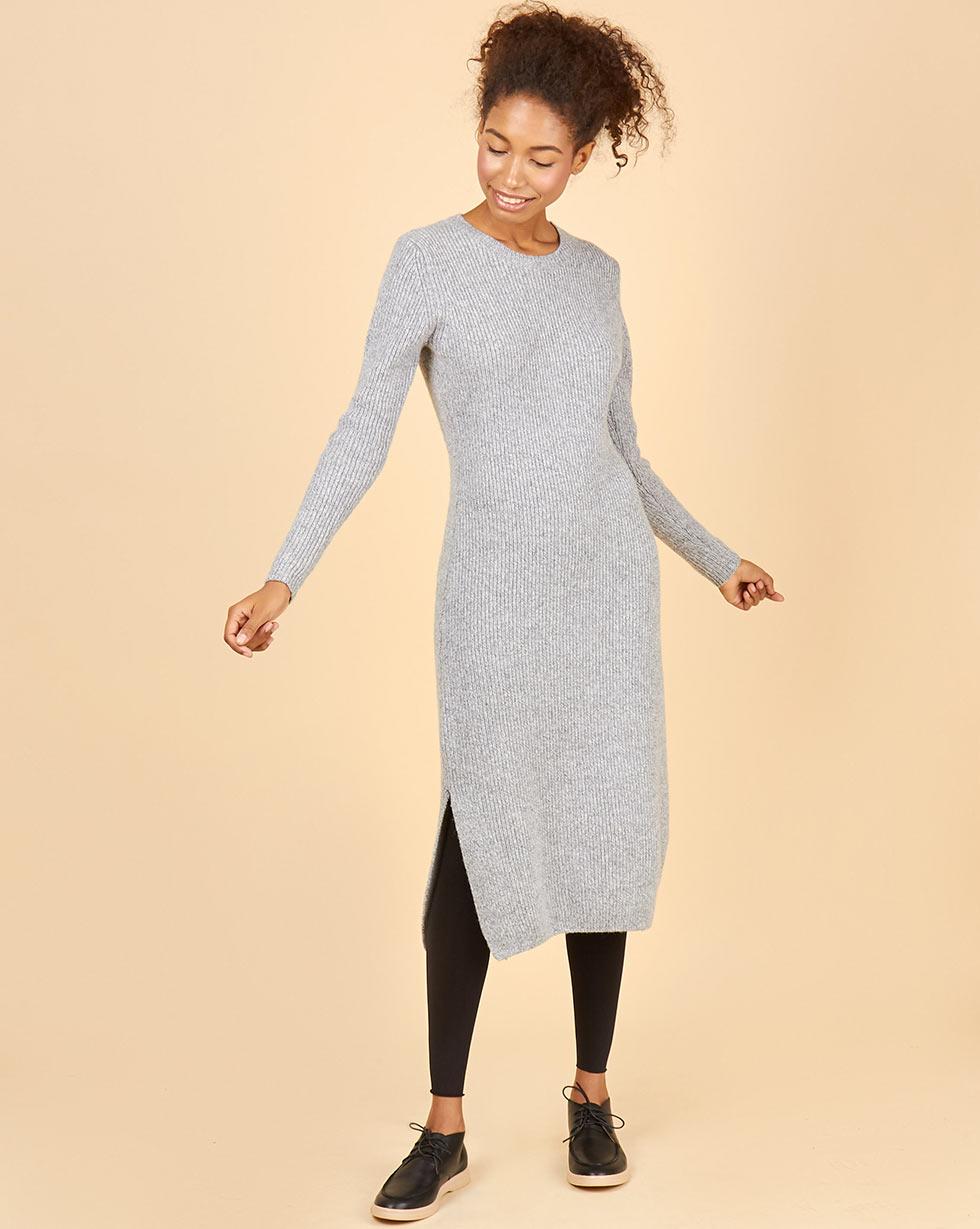 Купить со скидкой Платье миди из шерсти меланж S