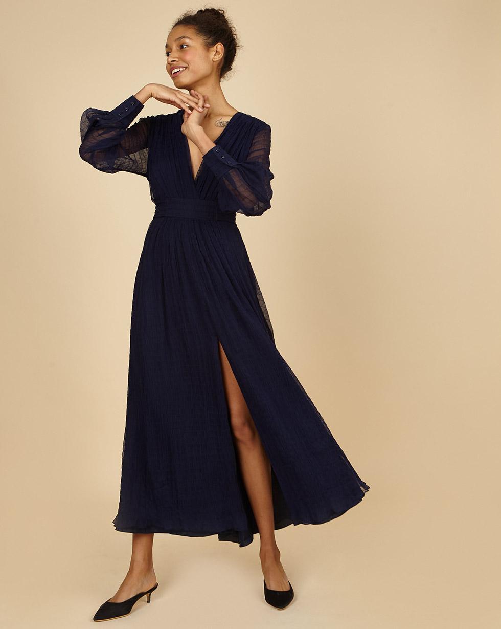 12Storeez Платье из шифона (синий)
