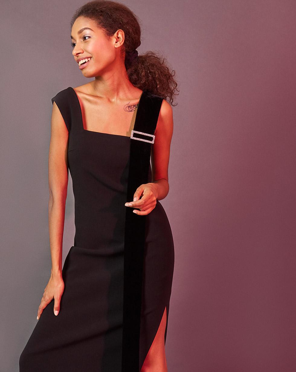 Купить со скидкой Платье с бретелями из бархата S