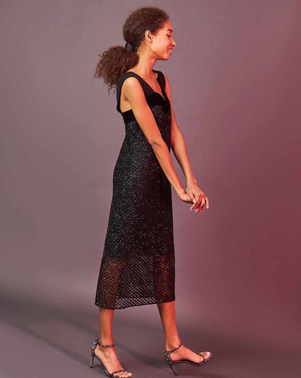 12Storeez Платье из сетки (чёрный)
