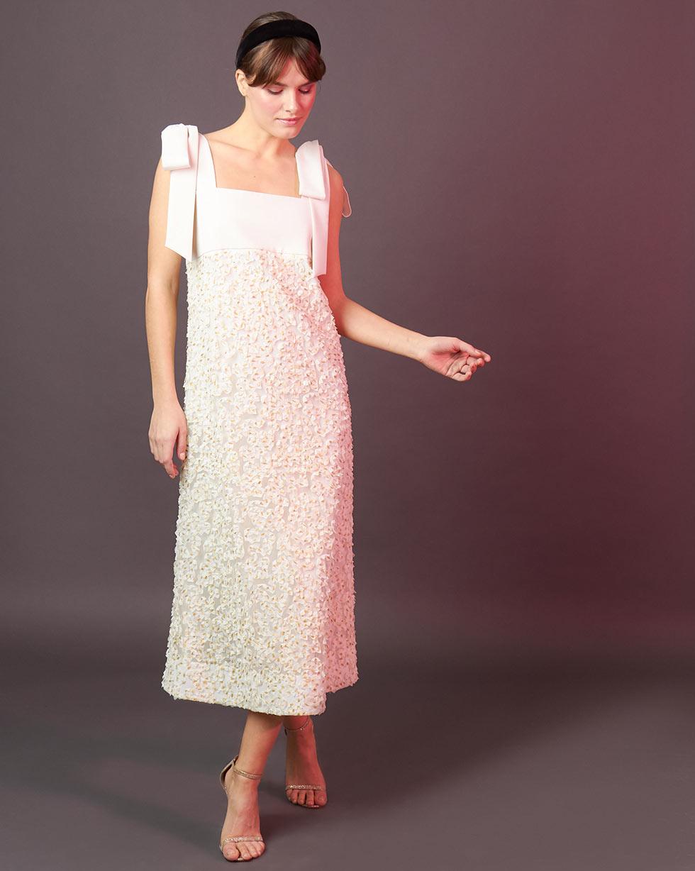 12Storeez Платье с бантами (молочный)