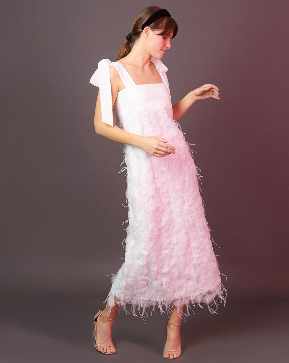 12Storeez Платье с бантами (белый)
