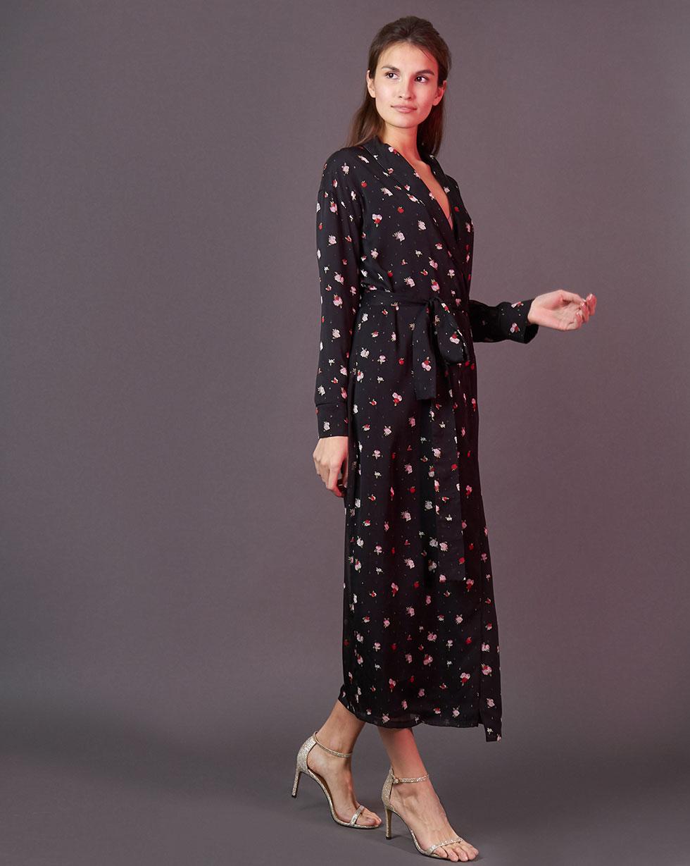 Купить со скидкой Платье-халат в цветок S
