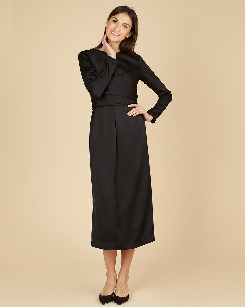 12Storeez Платье миди с завязками на талии (чёрный) wayf платье трапеция iris с завязками на спине
