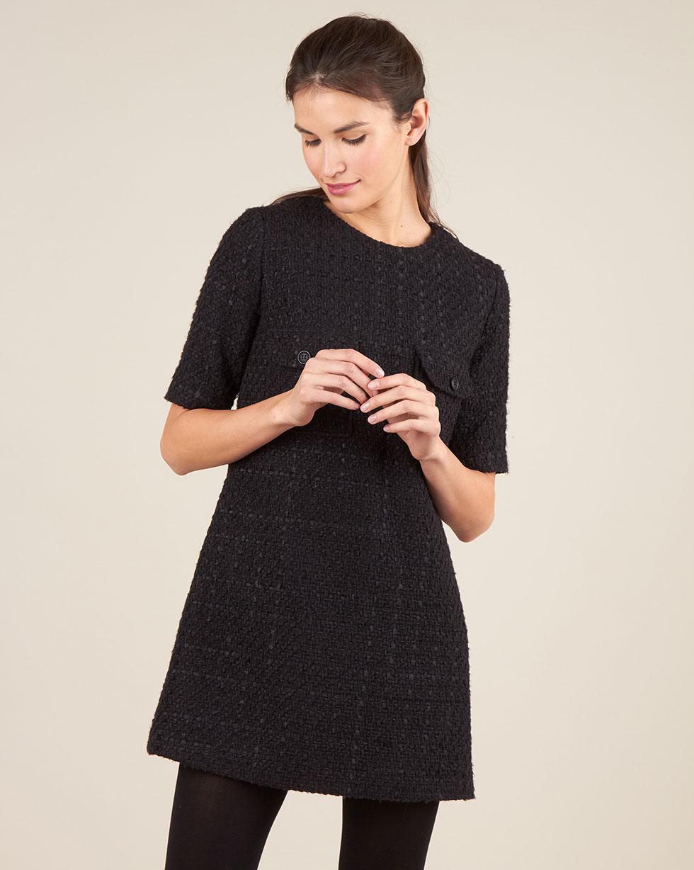 12Storeez Платье из твида (чёрный) цена