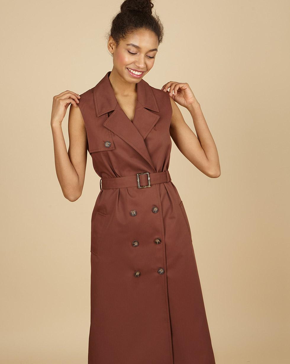12Storeez Платье-жилет (коричневый)