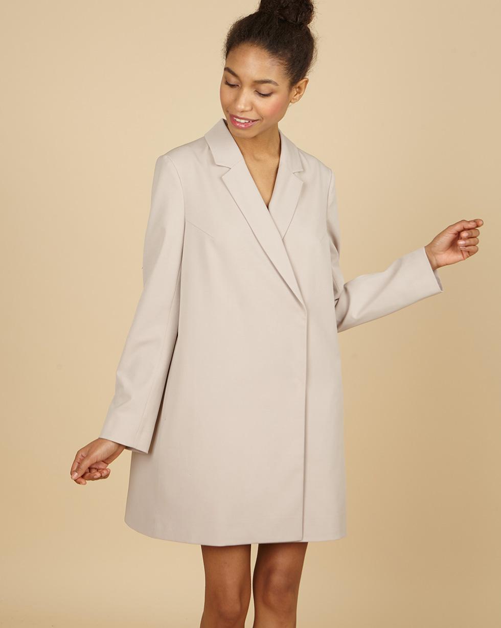 12Storeez Платье-пиджак мини (светло-бежевый)
