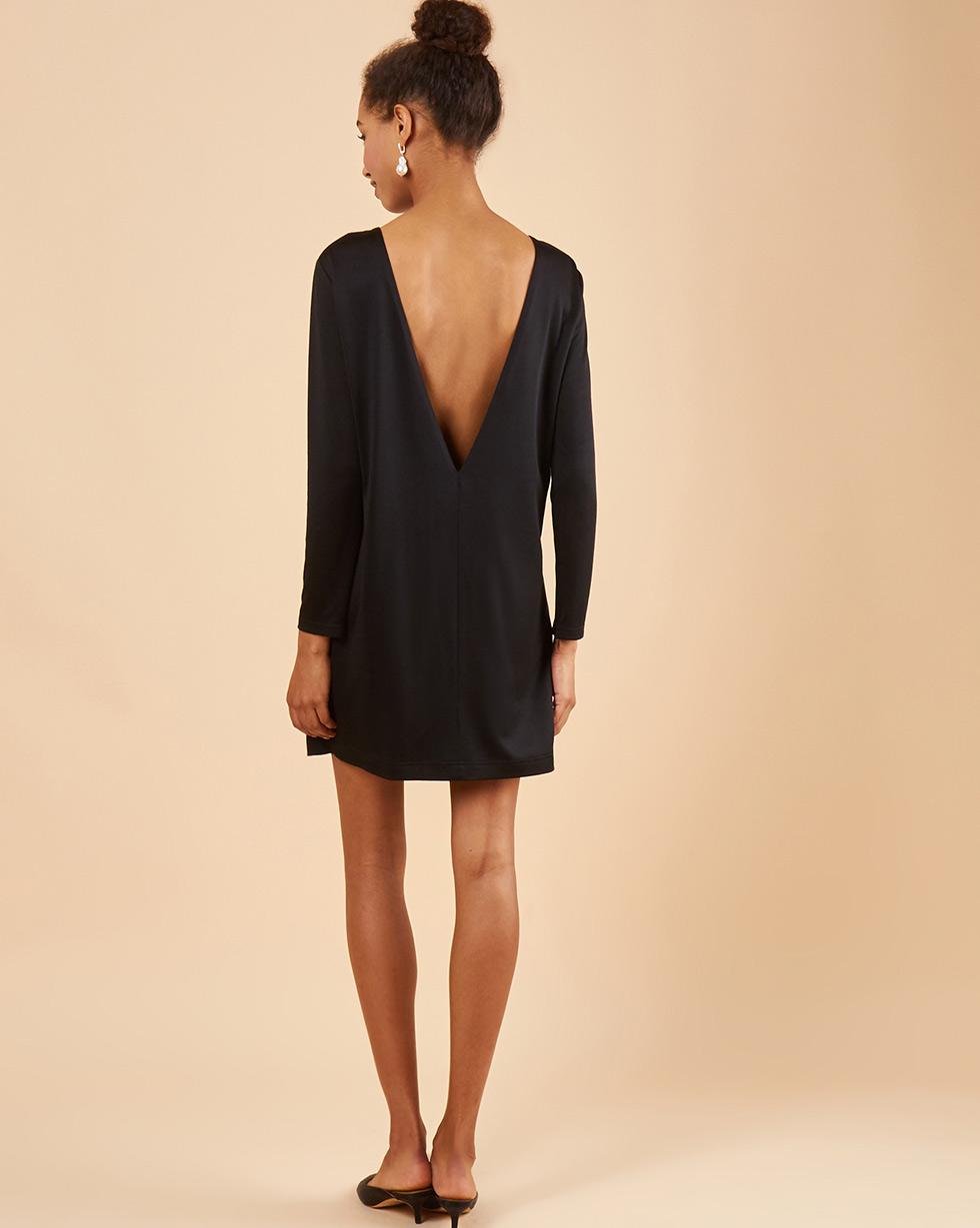 12Storeez Платье мини с открытой спиной (чёрный)
