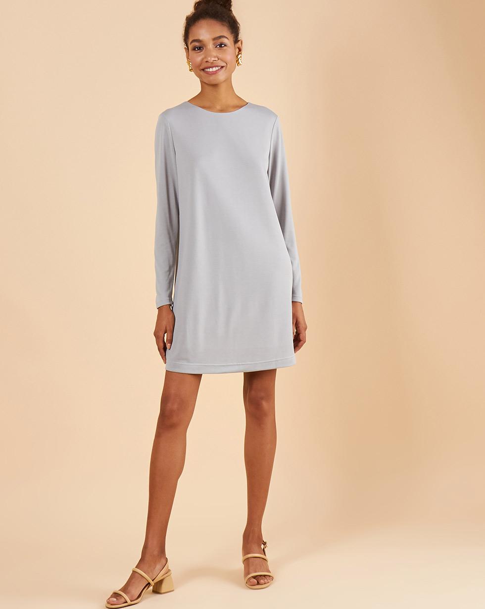 12Storeez Платье мини с открытой спиной (серый)