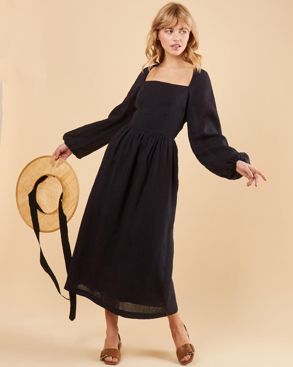 12Storeez Платье с лифом и пышной юбкой (чёрный)