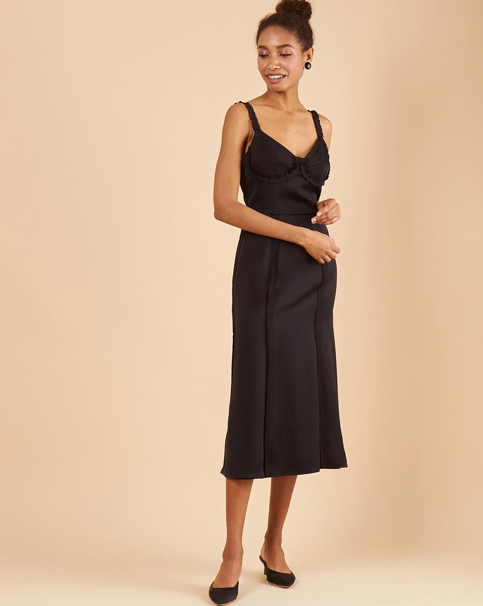12Storeez Платье с нашивными лентами платье приталенное из блестящего жаккарда