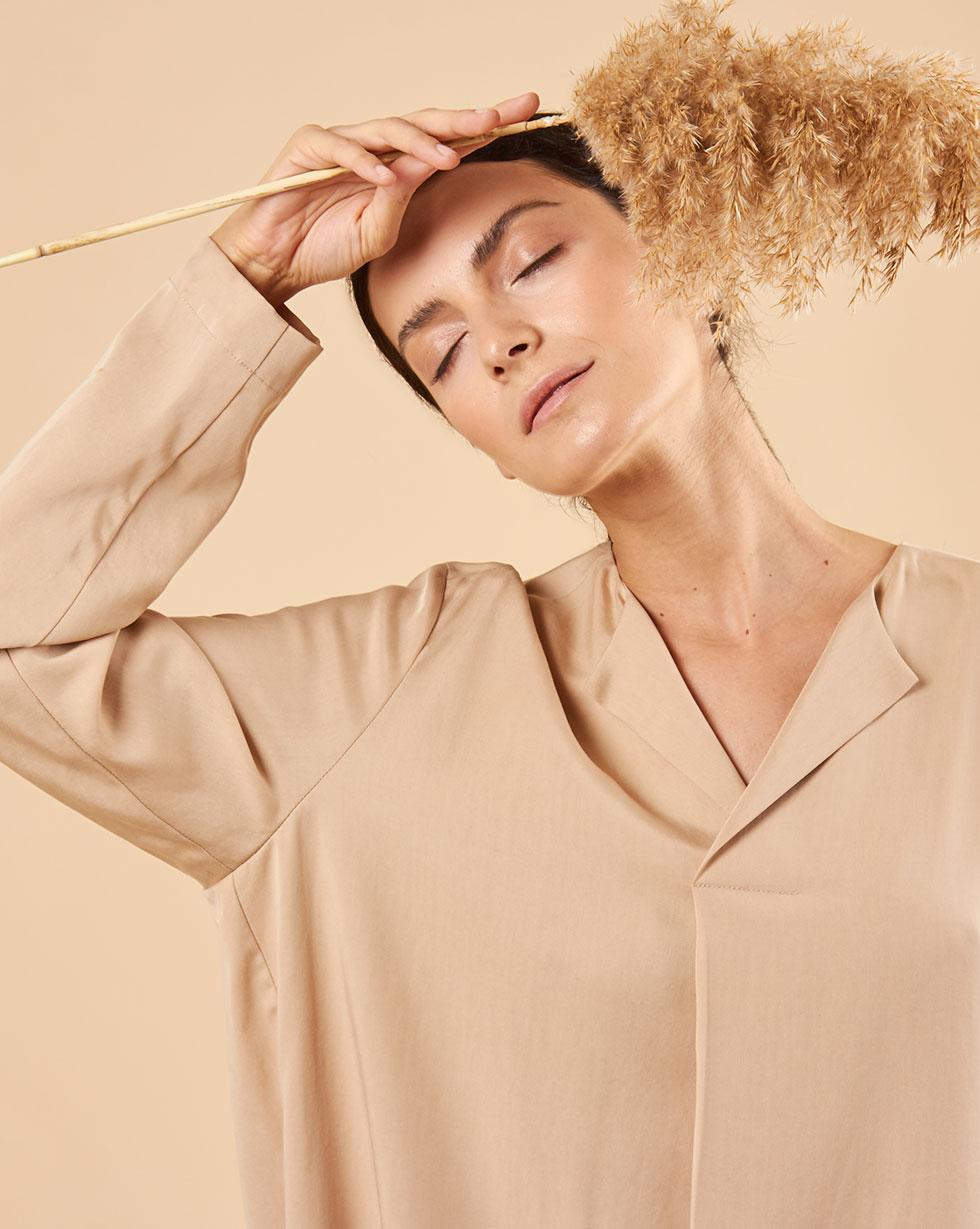 12Storeez Платье прямое (бежевый) 12storeez шуба укороченная из искусственного меха бежевый