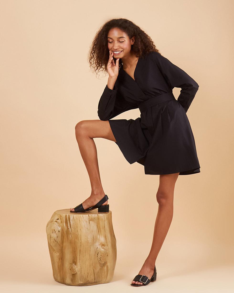 12Storeez Платье рубашка со съёмным поясом (чёрный) season4reason season4reason платье с поясом 168056