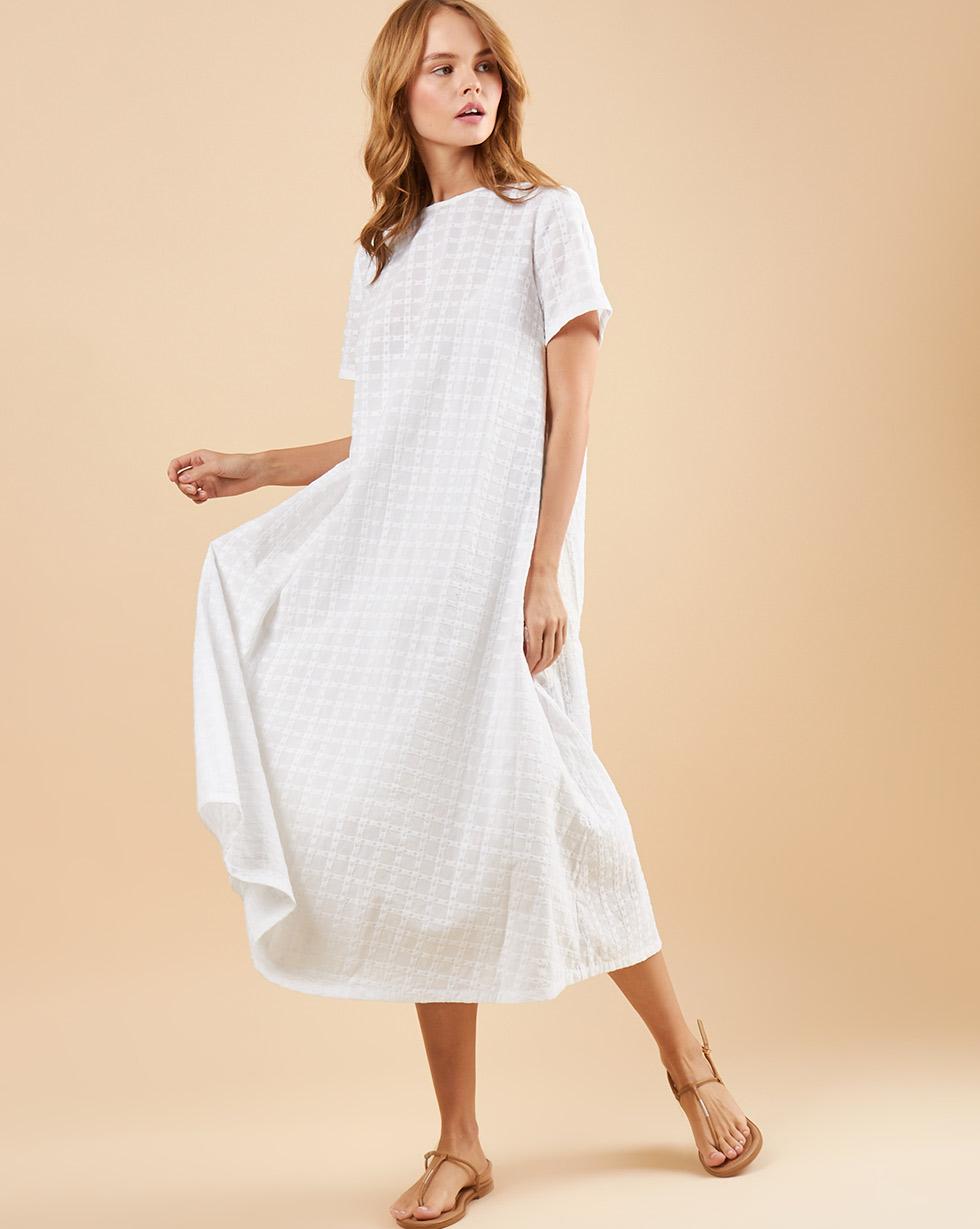 12Storeez Платье-футболка из шитья (белый)