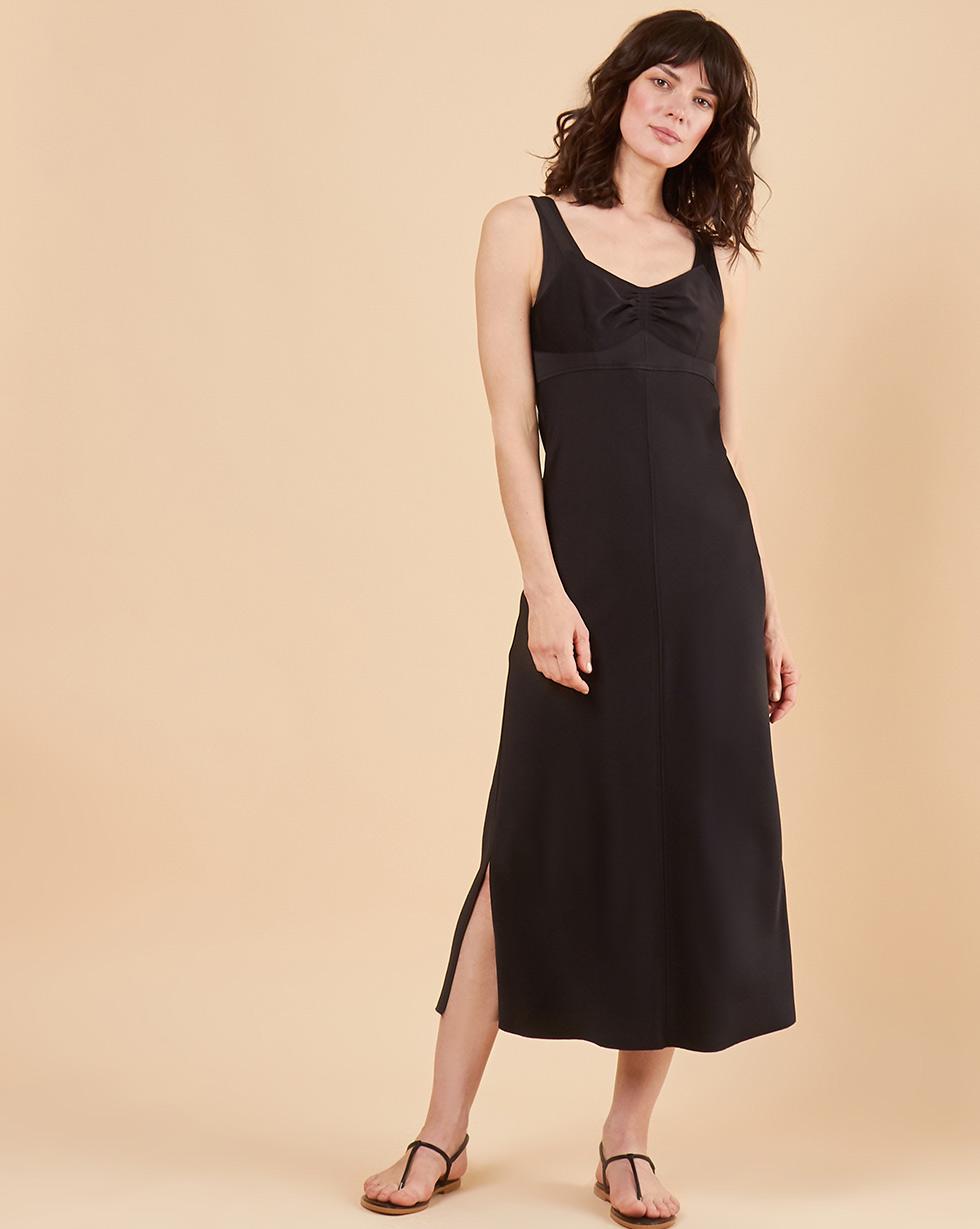 12Storeez Комбинация на широких бретелях (черный) 12storeez платье на широких бретелях из трикотажа бежевый