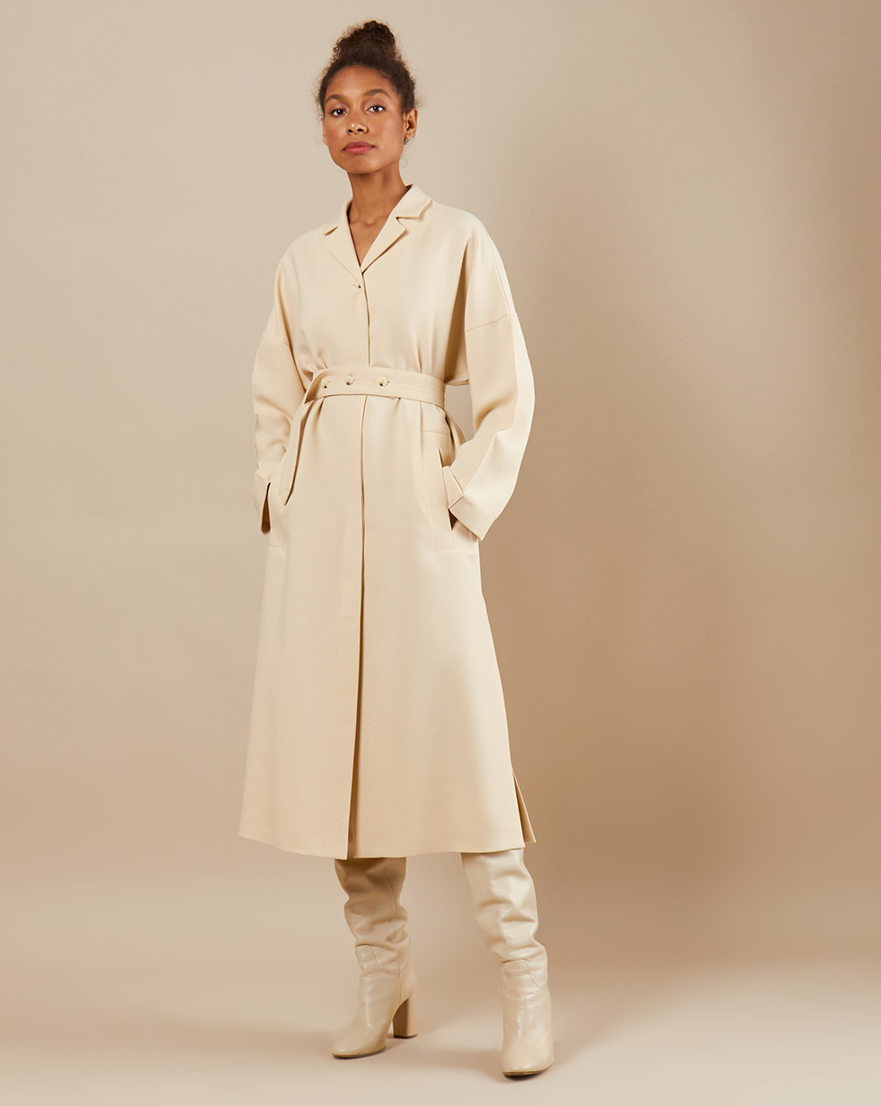 12Storeez Платье миди DR5858/005 (Молочный)