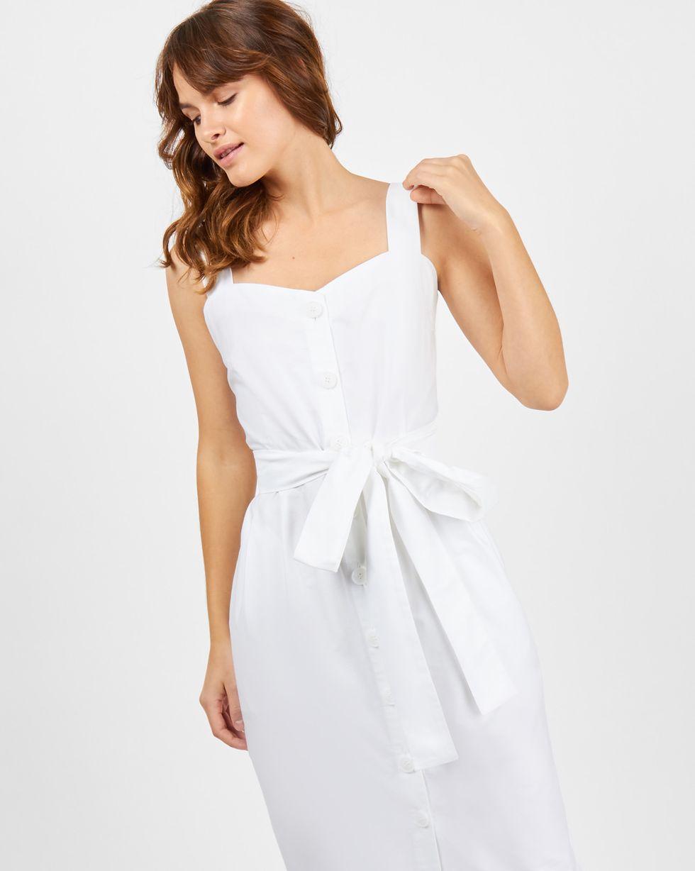 Сарафан на широких бретелях Sплатья<br><br><br>Артикул: 8295797<br>Размер: S<br>Цвет: Белый<br>Новинка: НЕТ<br>Наименование en: Wide strap midi dress