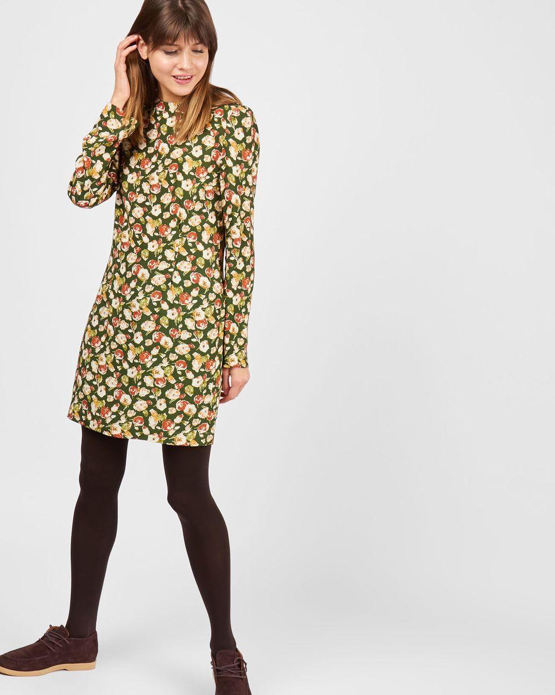 Платье мини в цветок SПлатья<br><br><br>Артикул: 8296517<br>Размер: S<br>Цвет: Зеленый<br>Новинка: НЕТ<br>Наименование en: Floral print mini dress