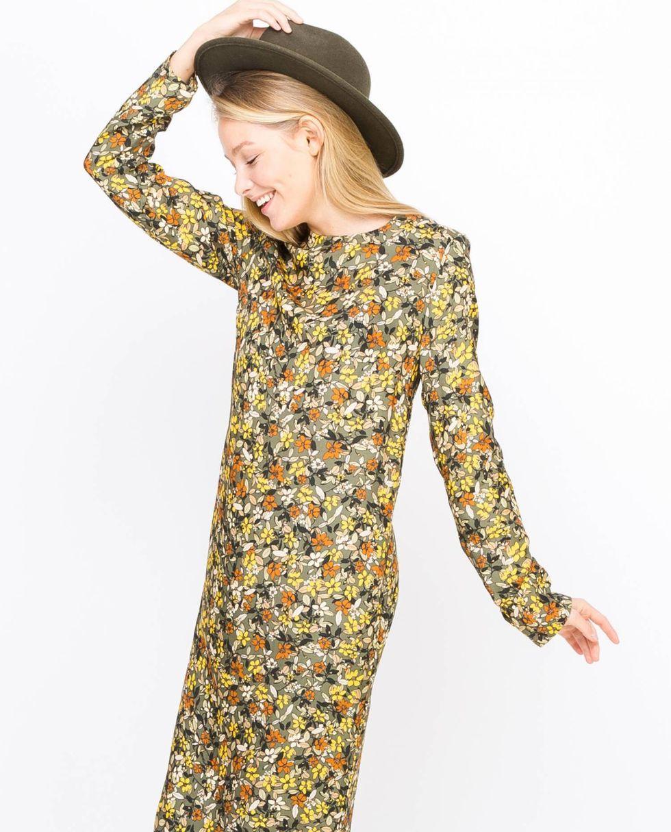 Платье миди в мелкий цветок SПлатья<br><br><br>Артикул: 8296972<br>Размер: S<br>Цвет: Зеленый<br>Новинка: НЕТ<br>Наименование en: None