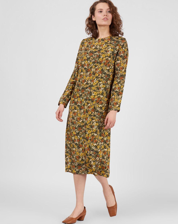 Платье миди в мелкий цветок XS