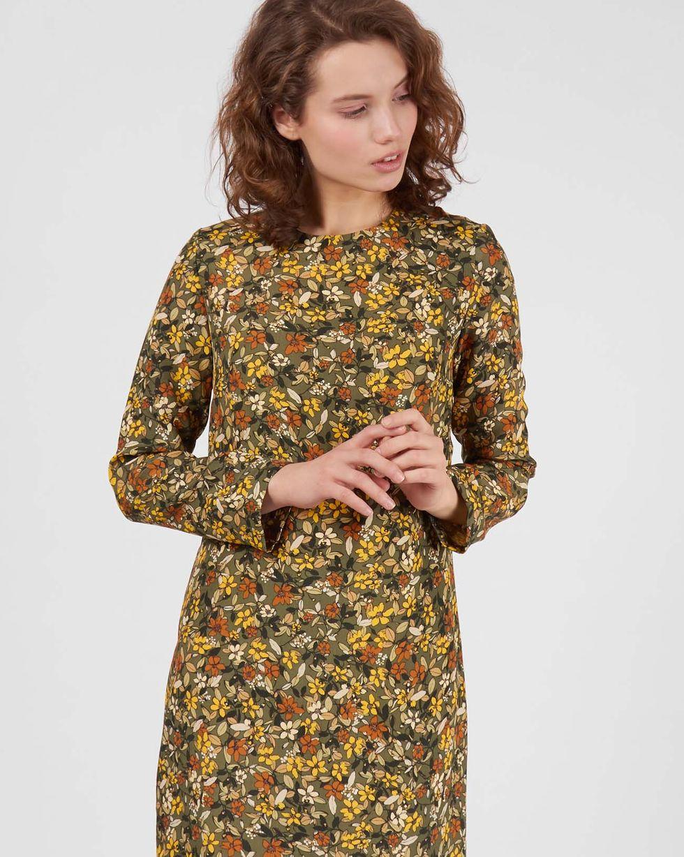 Платье миди в мелкий цветок LПлатья<br><br><br>Артикул: 8296972<br>Размер: L<br>Цвет: Зеленый<br>Новинка: ДА<br>Наименование en: Floral print midi dress