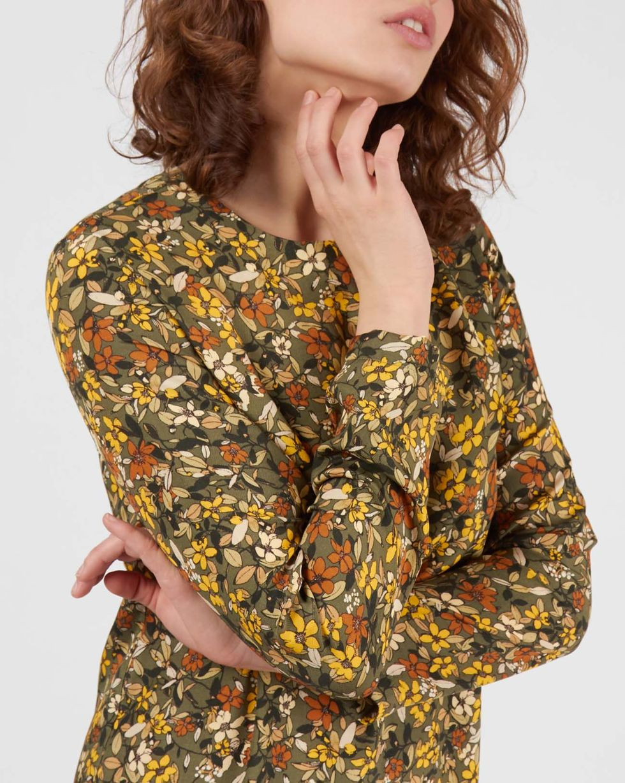 Платье миди в мелкий цветок MПлатья<br><br><br>Артикул: 8296972<br>Размер: M<br>Цвет: Зеленый<br>Новинка: НЕТ<br>Наименование en: Floral print midi dress