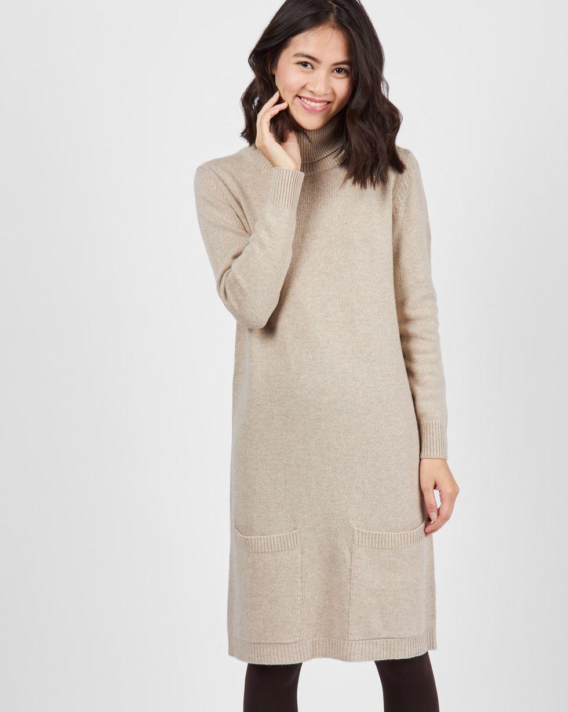 Платье-водолазка MПлатья<br><br><br>Артикул: 8297106<br>Размер: M<br>Цвет: Кофе с молоком<br>Новинка: НЕТ<br>Наименование en: Turtleneck sweater dress