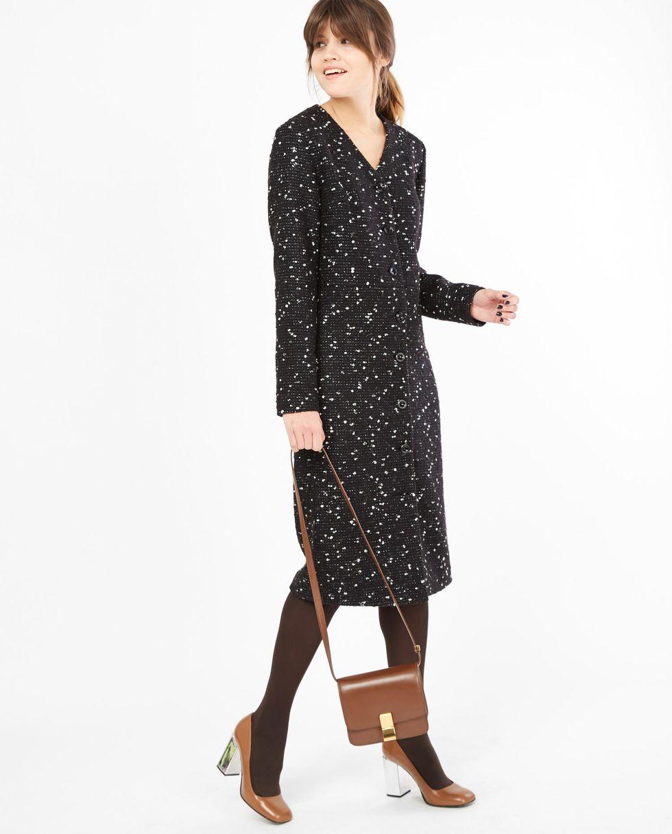 Платье-кардиган Sплатья<br><br><br>Артикул: 8297593<br>Размер: S<br>Цвет: Черный<br>Новинка: НЕТ<br>Наименование en: Button front long sleeve dress