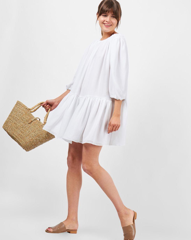 Платье «Облако» One sizeплатья<br><br><br>Артикул: 8298051<br>Размер: One size<br>Цвет: Белый<br>Новинка: НЕТ<br>Наименование en: Oversized drop waist dress