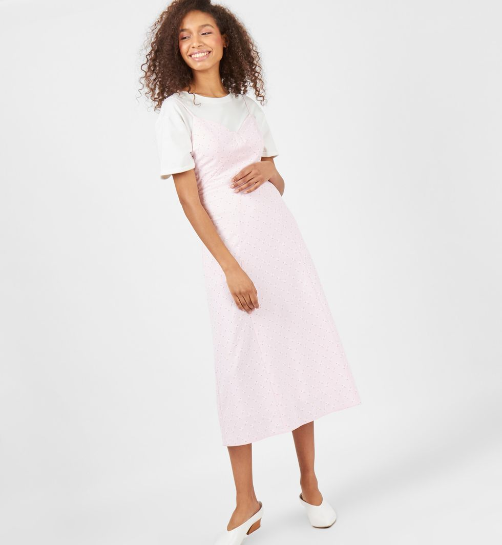 Платье-комбинация в цветок XSплатья<br><br><br>Артикул: 8298082<br>Размер: XS<br>Цвет: Розовый<br>Новинка: НЕТ<br>Наименование en: Floral print slip dress
