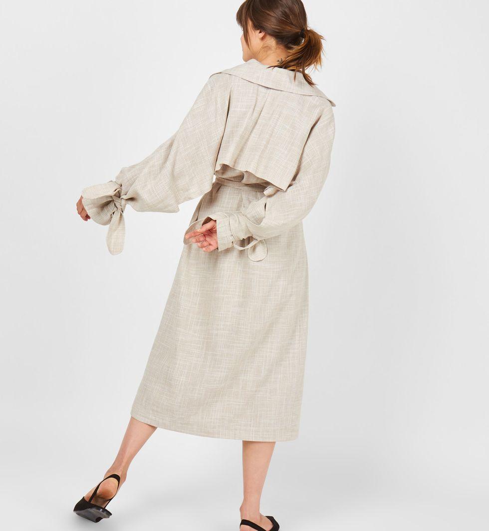 12Storeez Платье-тренч на поясе (бежевое)