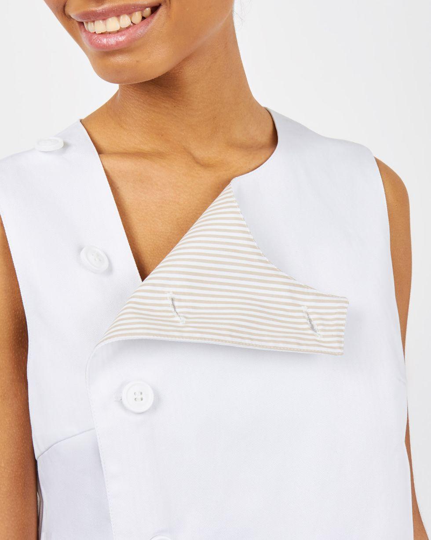 12Storeez Платье без рукавов из плотного хлопка (белый) платье без рукавов 85% хлопка