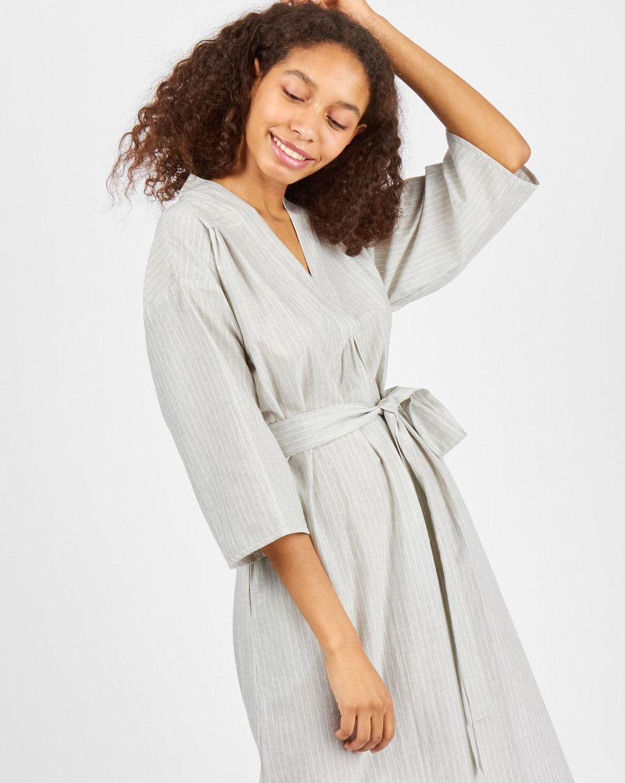 цена 12Storeez Платье-рубашка свободного кроя в полоску (светло-серый) онлайн в 2017 году
