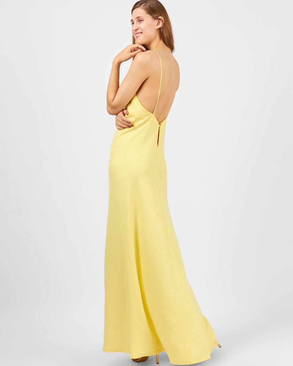 Комбинация с глубоким вырезом XSПлатья<br><br><br>Артикул: 8299362<br>Размер: XS<br>Цвет: Желтый<br>Новинка: НЕТ<br>Наименование en: Low back slip dress