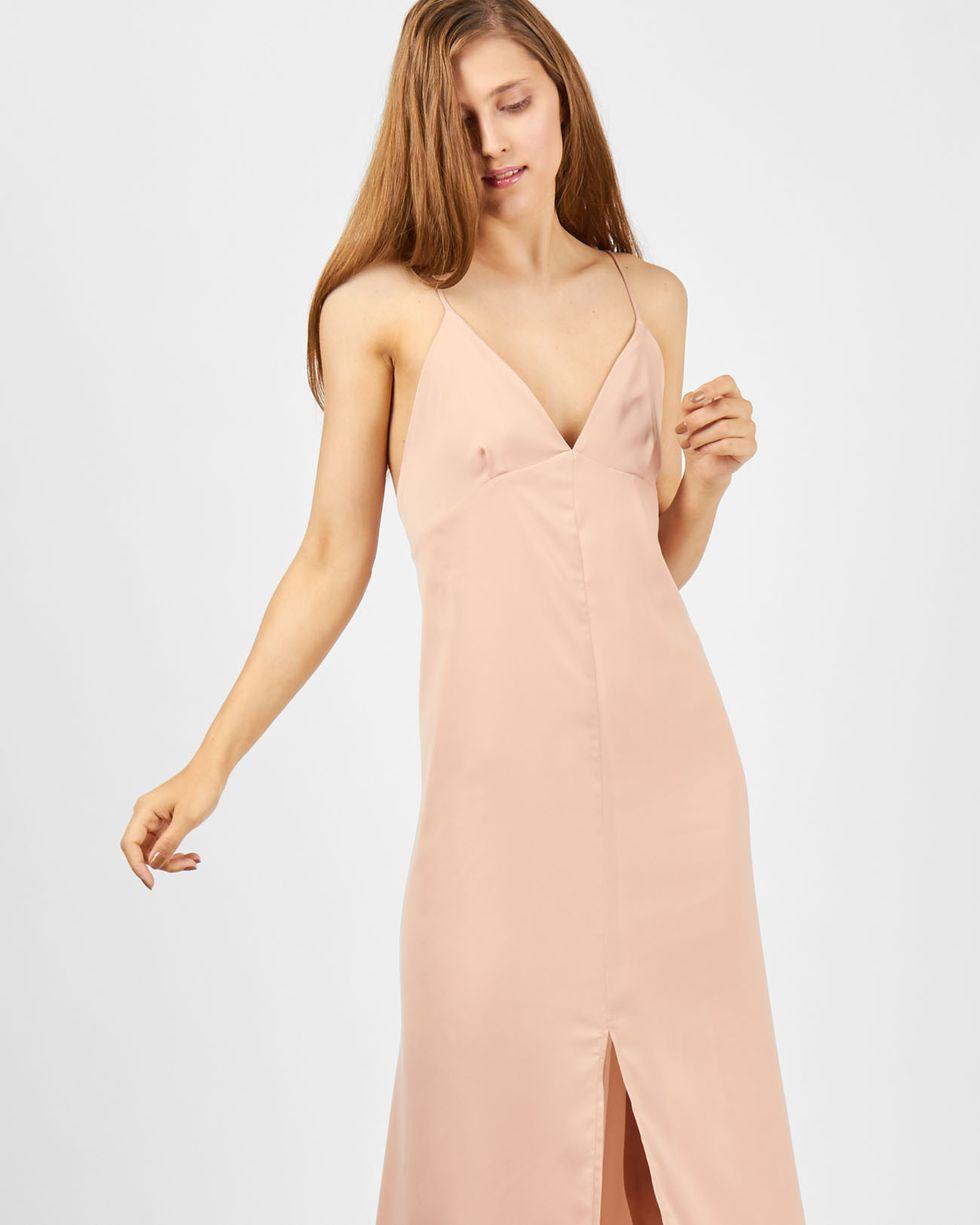 Комбинация с глубоким вырезом MПлатья<br><br><br>Артикул: 8299467<br>Размер: M<br>Цвет: Бежевый<br>Новинка: НЕТ<br>Наименование en: Low back slip dress