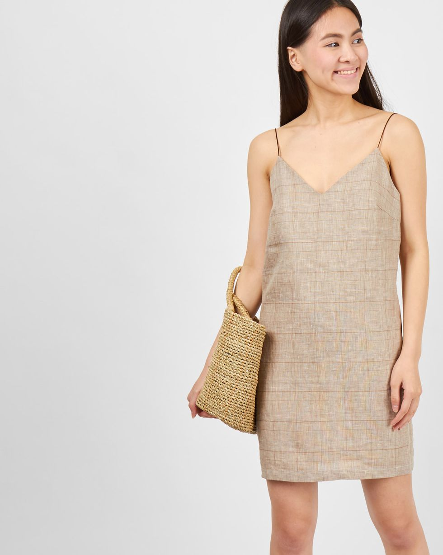 Комбинация мини изо льна Sплатья<br><br><br>Артикул: 8299587<br>Размер: S<br>Цвет: Бежевый<br>Новинка: ДА<br>Наименование en: Linen mini slip dress