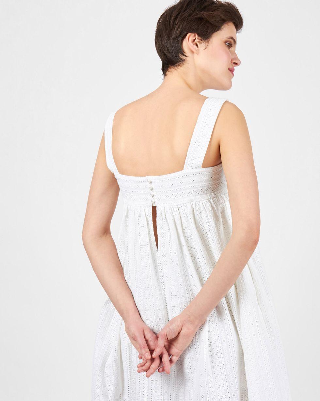 Сарафан на широких бретелях из шитья SПлатья<br><br><br>Артикул: 8299606<br>Размер: S<br>Цвет: Белый<br>Новинка: НЕТ<br>Наименование en: Wide strap loose dress