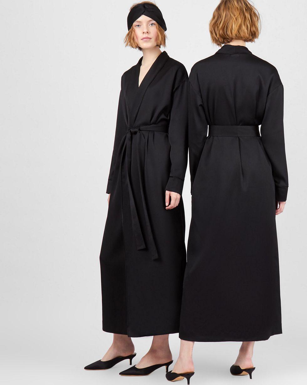 12Storeez Платье-халат (черный)