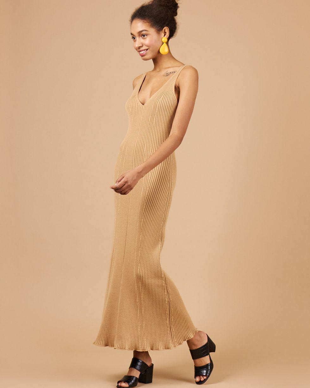 Платье на широких бретелях из трикотажа M