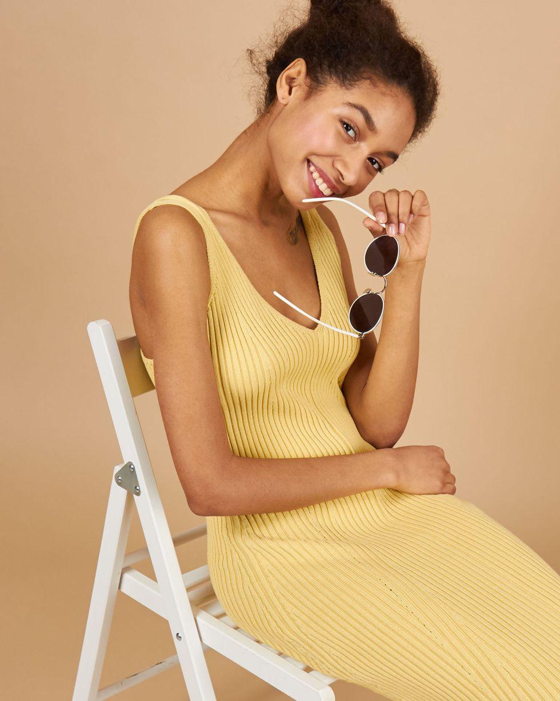12Storeez Платье на широких бретелях из трикотажа (желтый) 12storeez платье на широких бретелях из трикотажа бежевый