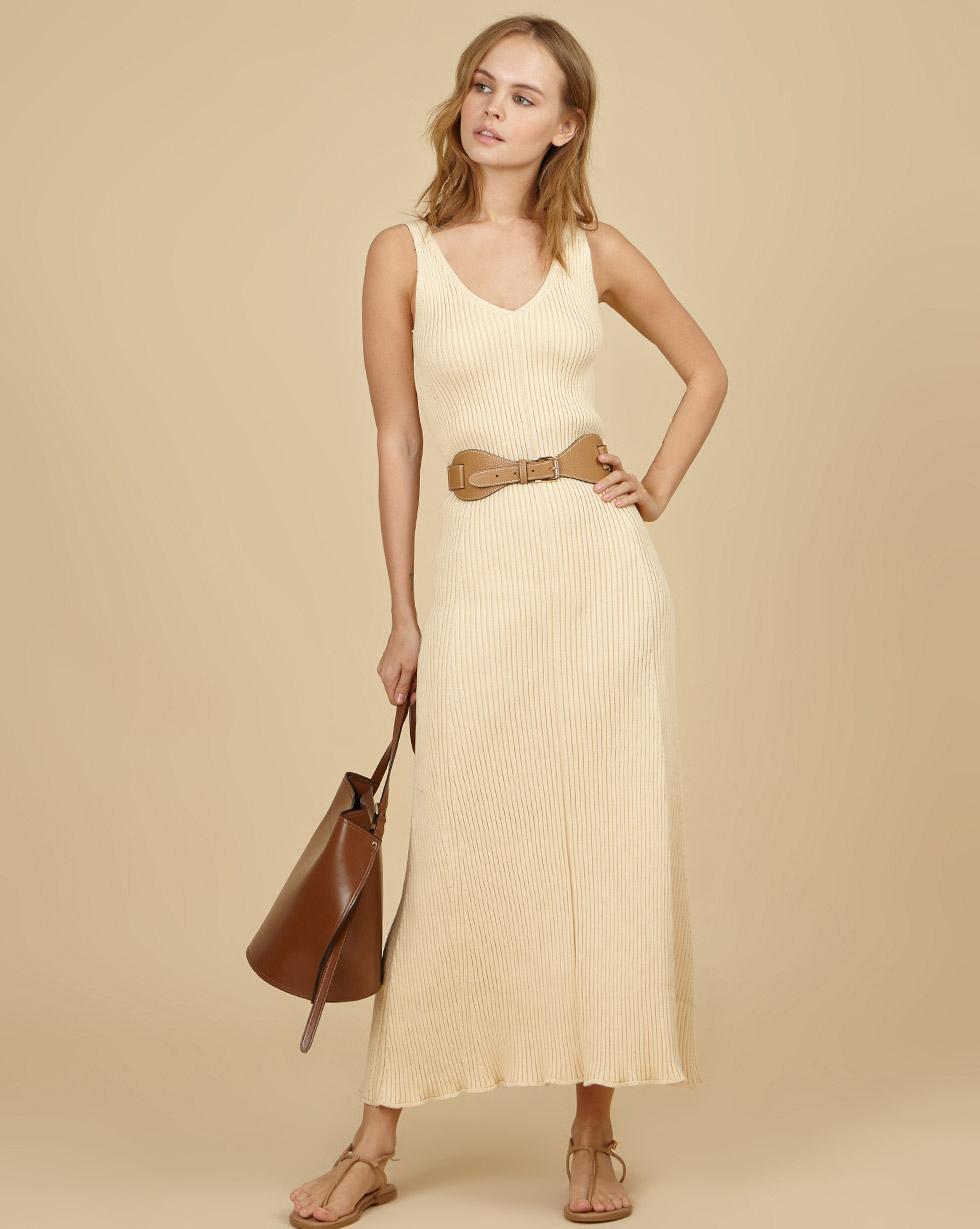 12Storeez Платье на широких бретелях из трикотажа (молочный) SS19 12storeez ажурное платье белый ss19